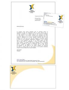 création carte visite lettre hôtel