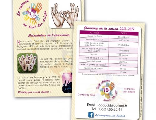 Création du logo, flyer, carte pour l'association LCBD à Angers