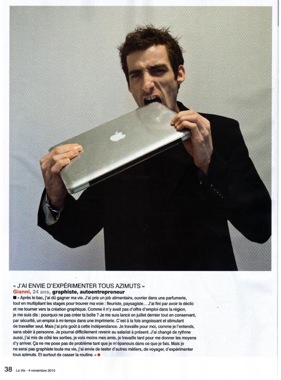 Article de presse Gianni Codron graphiste à Angers