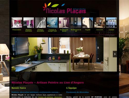 Création site Internet pour un artisan peintre (Lion d'Angers)