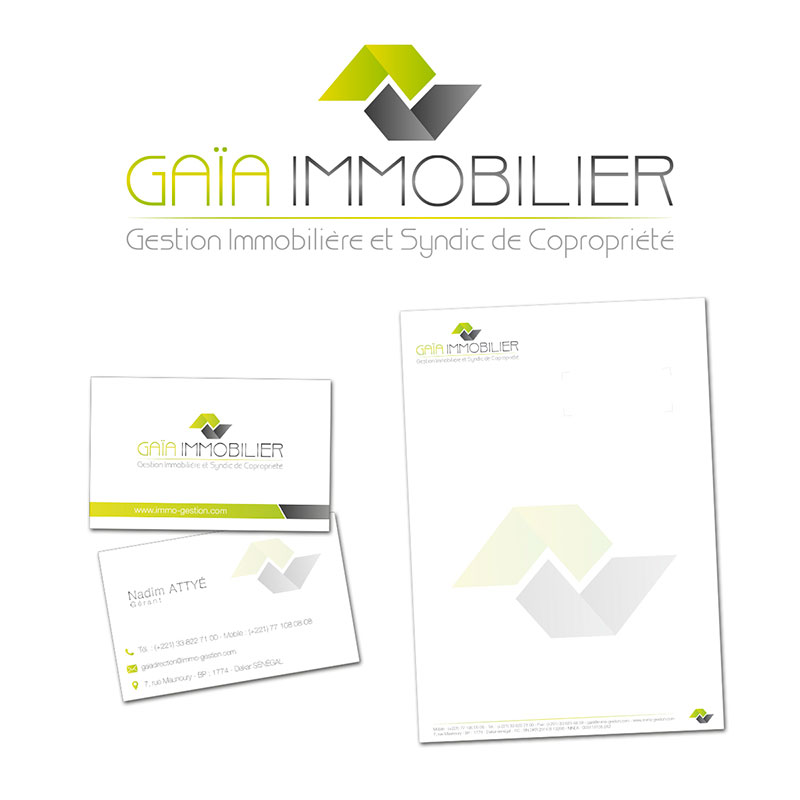création logo carte visite agence immobiliere