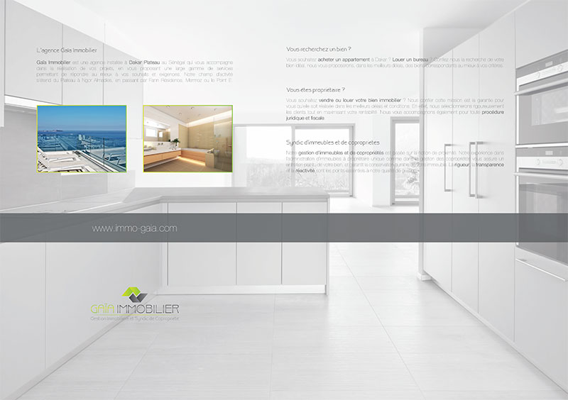 création pochette rabats immobilier verso