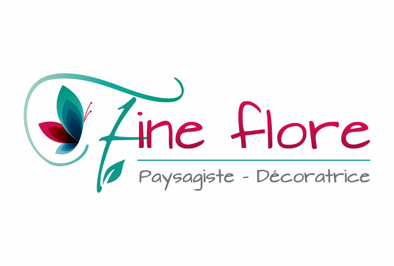 création logo paysagiste décoratrice angers