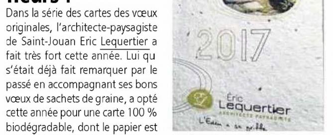 article carte voeux papier graines