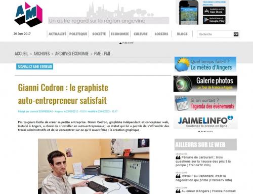 Angers Mag Info – «Gianni Codron : Le graphiste auto-entrepreneur satisfait»