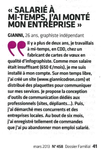 article presse graphiste independant