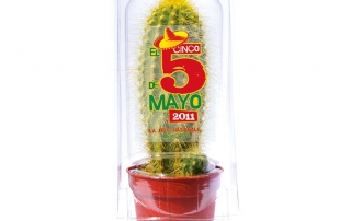 cactus publicitaire en serre plastique
