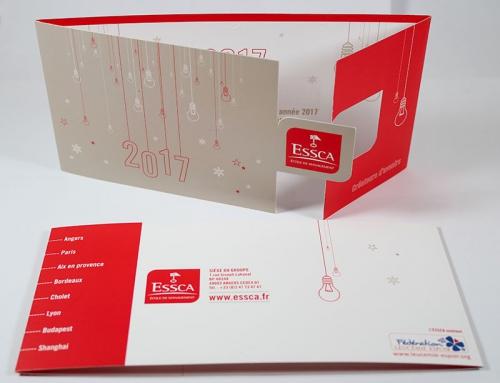 Création d'une carte de vœux avec forme de découpe – Groupe ESSCA Angers