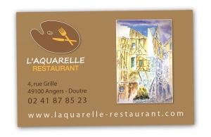 création carte visite restaurant angers
