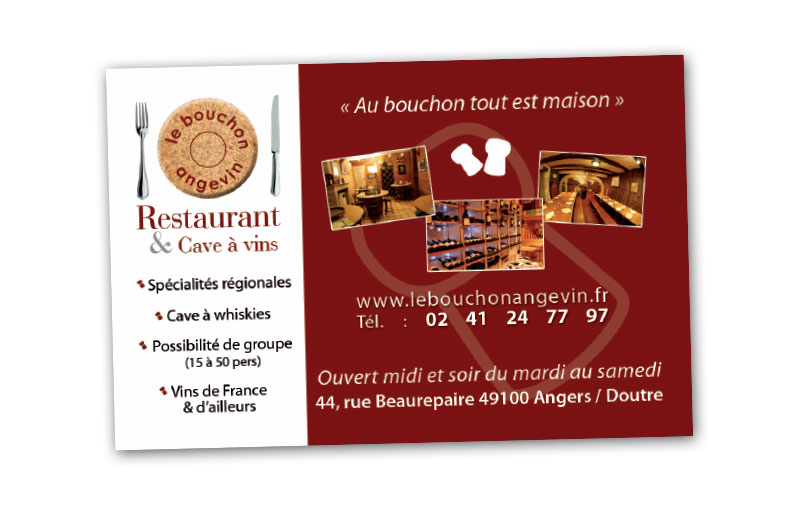 creation carte visite restaurant cave gianni codron publicit. Black Bedroom Furniture Sets. Home Design Ideas