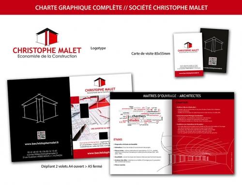 Charte graphique complète (création logo, carte de visite et dépliant) bureau d'étude
