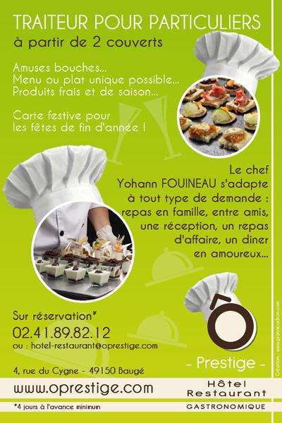 Création flyer A6 Angers Restaurant