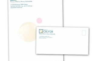 création graphique entête de lettre et enveloppe