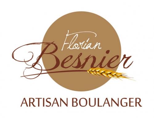 Création logo Florian Besnier artisan boulanger à Angers