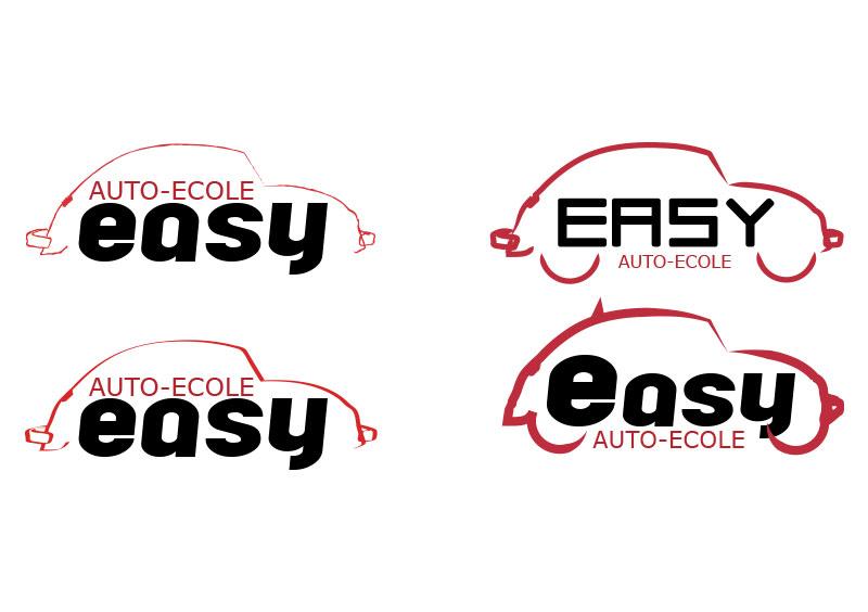 création logo adhésif auto école angers