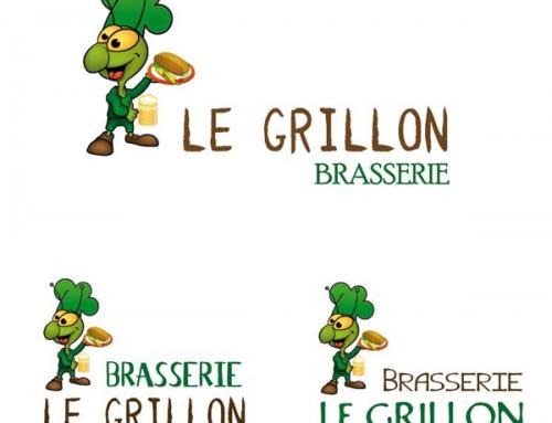 Création du logotype et charte graphique Brasserie Le Grillon