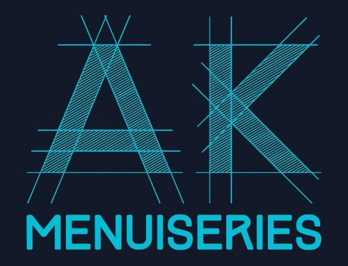 Création du logotype AK Menuiseries Angers