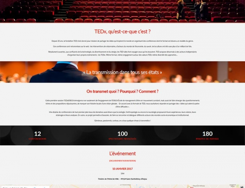 Création webdesign site Internet, logo et illustrations TEDx Essca Angers