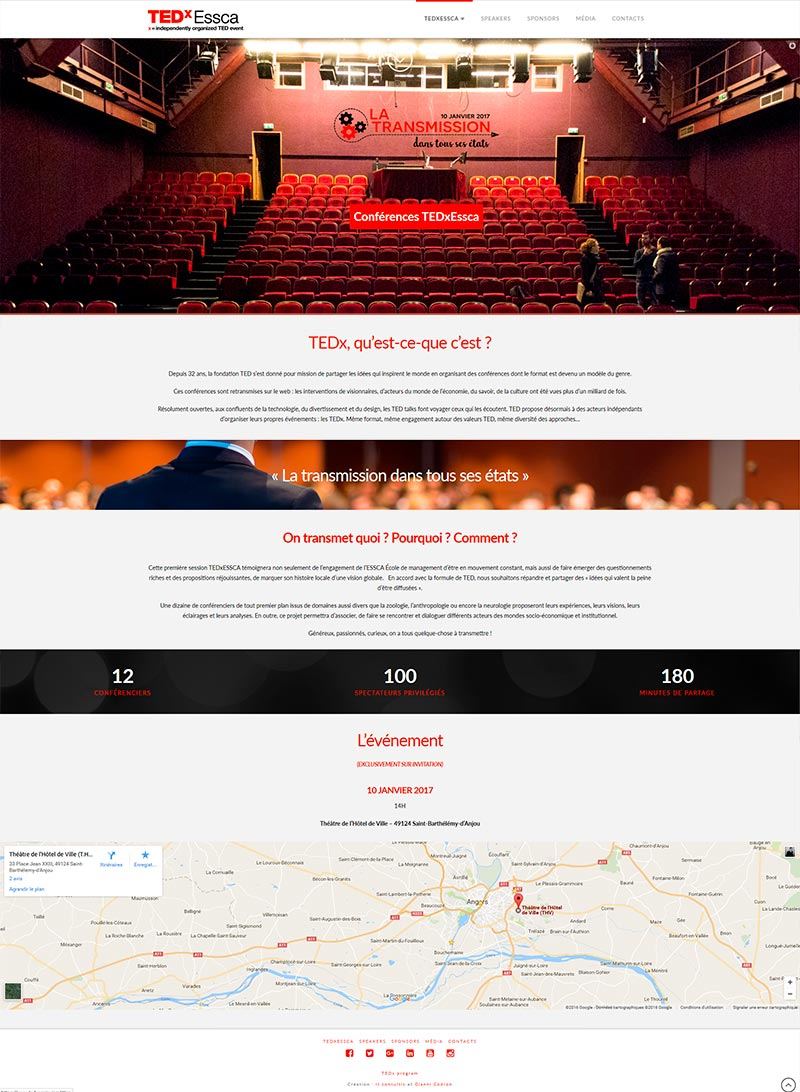création site internet angers tedx
