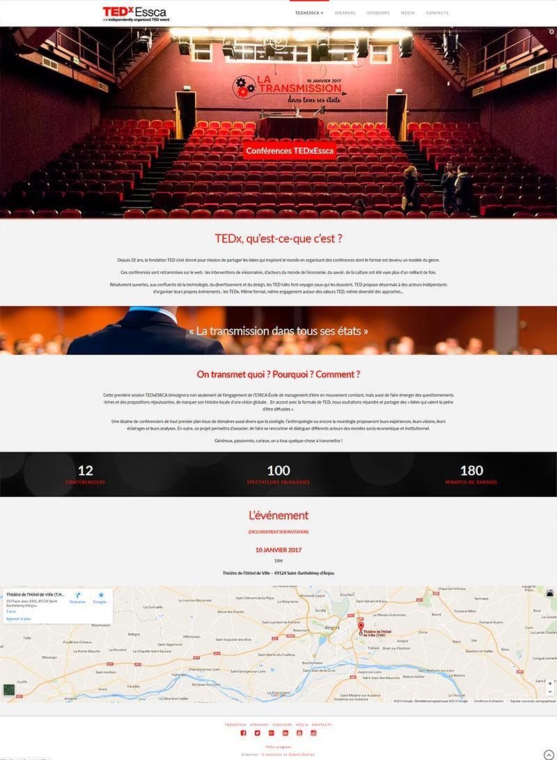 création site internet angers tedx