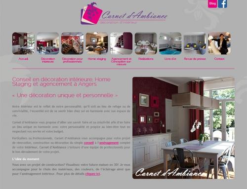 Création logo, carte plaquette et site Internet décoratrice à Angers
