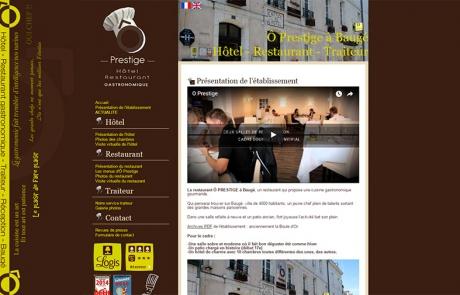 création site internet hôtel restaurant