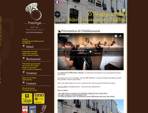 Création site Internet Hôtel Restaurant Ô Prestige