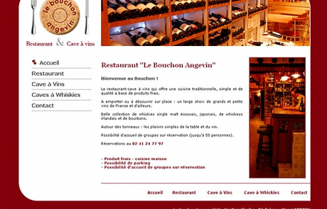 création site restaurant angers