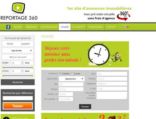 Création webdesign pour site Internet immobilier à Angers