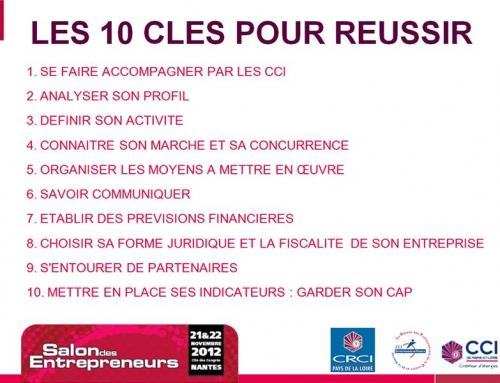 Conférence au Salon des Entrepreneurs de Nantes 2012