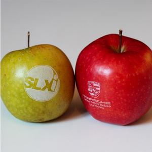 pommes publicitaires personnalisées avec logo