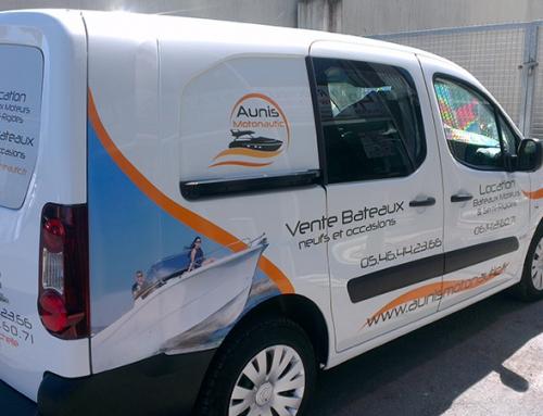 Création, impression et pose d'adhésif véhicule utilitaire Angers