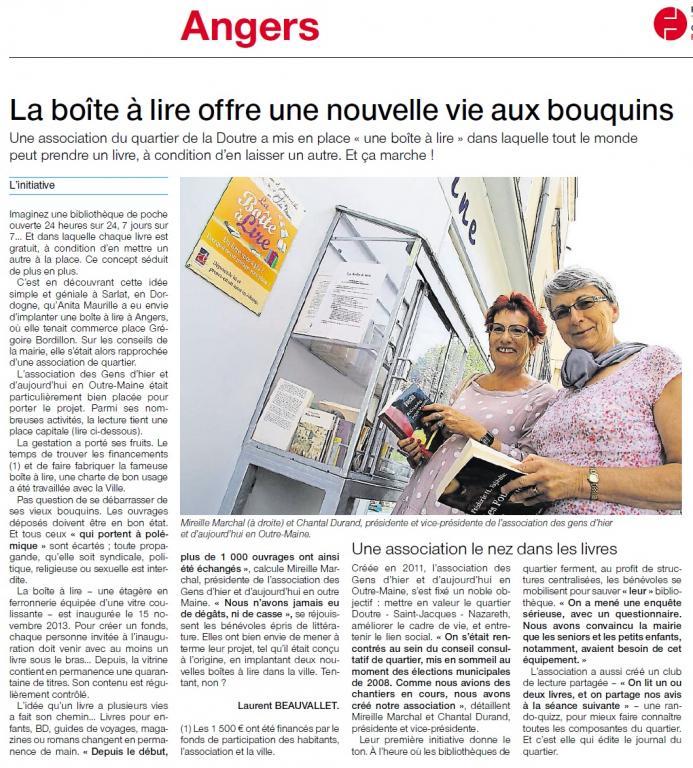 boite à lire Angers Doutre