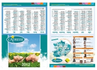 Création d'un calendrier dépliant Angers