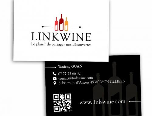 Création logo et carte de visite négociant vin Angers