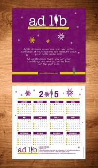 création carte voeux calendrier
