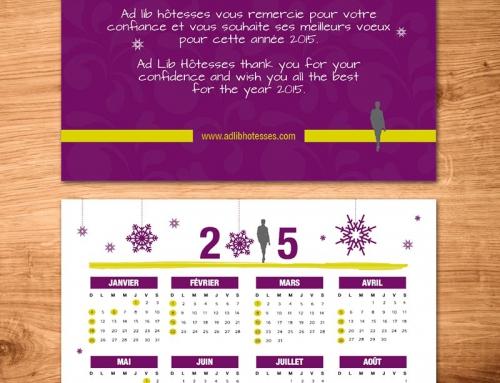 Création d'un calendrier carte de vœux