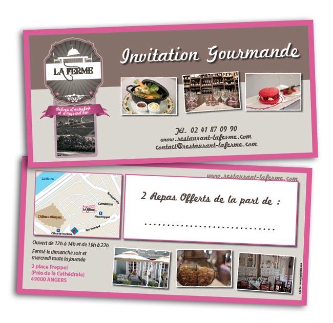création carton invitation restaurant angers