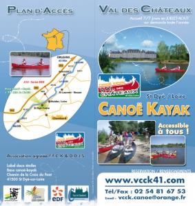 création dépliant angers canoe kayak