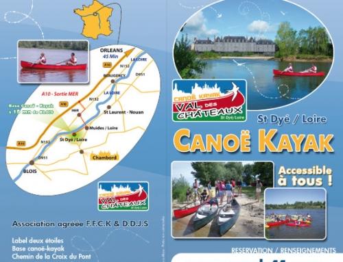 Création d'un dépliant 2 volets et logo Club Canoë Kayak