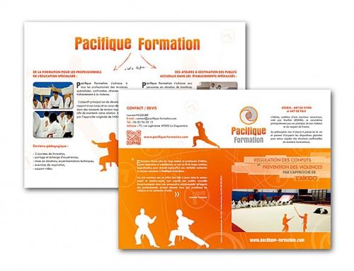 Création d'un logo, dépliant et entête de lettre organisme de formation