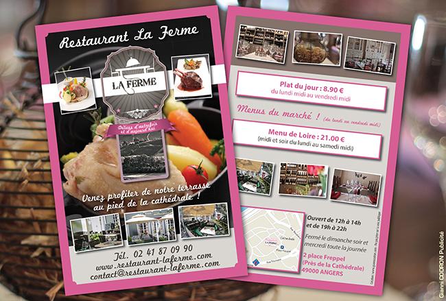 création flyer restaurant angers