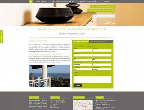 Création d'un site Internet pour une agence immobilière
