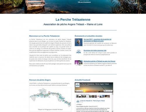 Création site Internet association pêche AAPPMA Angers Trélazé