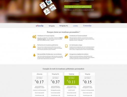 Création d'un site Internet de présentation de produit