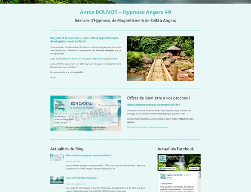 Refonte du site Internet Hypnose Angers 49