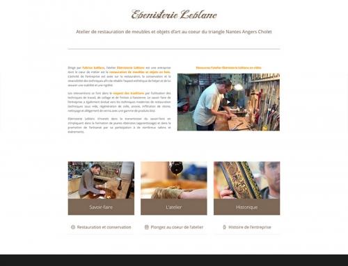 Création d'un site Internet WordPress – Fabrice Leblanc, ébéniste Angers Cholet