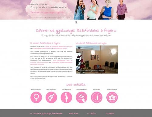 Création d'un site Internet vitrine pour le cabinet de gynécologie Bellefontaine à Angers
