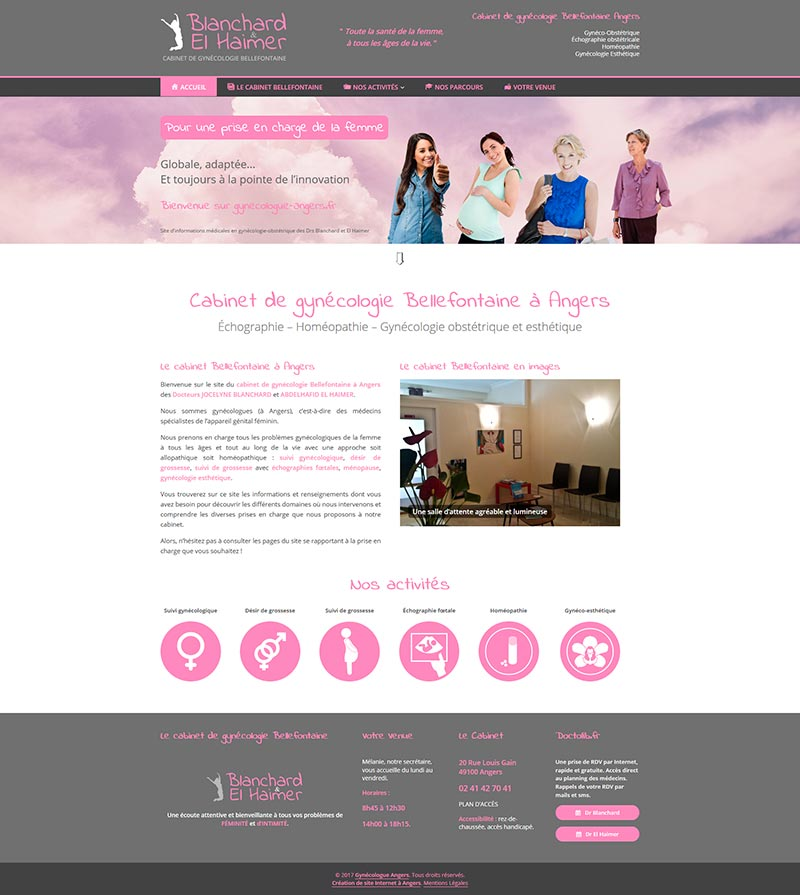 création site internet gynecologue angers