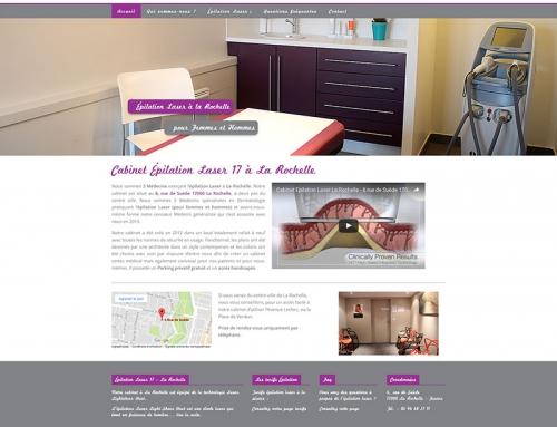 Création site Internet vitrine pour un cabinet d'épilation laser à La Rochelle